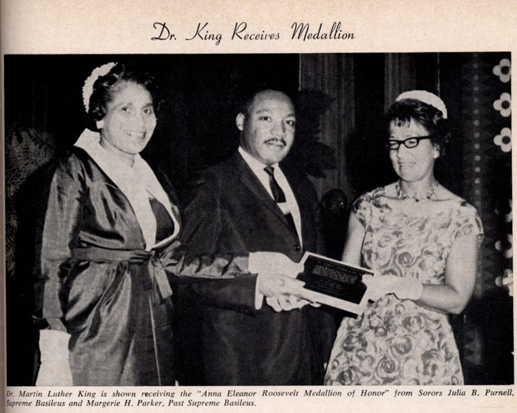 Dr. Martin Luther King receiving award